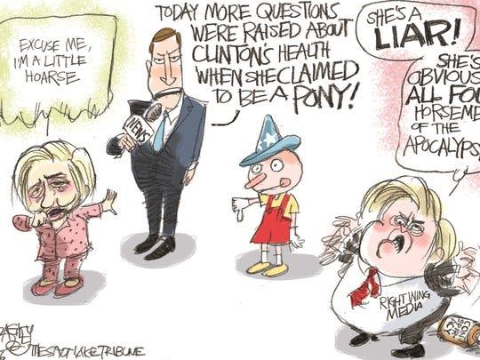 Pat Bagley, Salt Lake Tribune, drew this editorial cartoon.