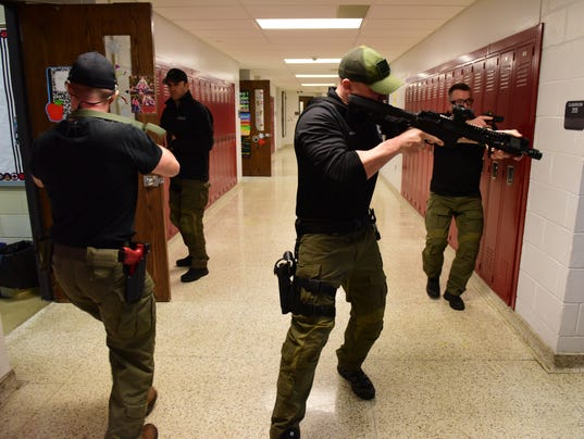 Active Shooter Police Drill
