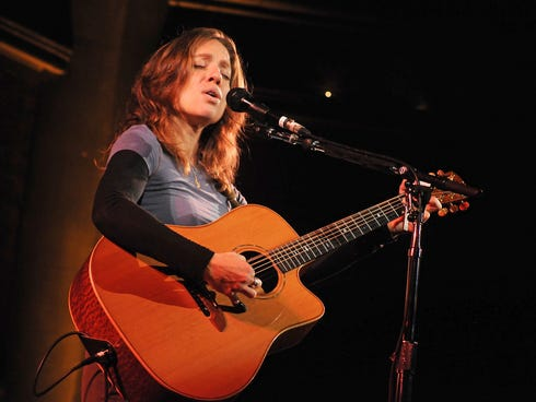 Ani DiFranco performs on stage at the Union Chapel on Jan. 10, 2012, in London.