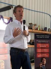Sen. Rand Paul, R-Ky., speaks at the Lang family farm