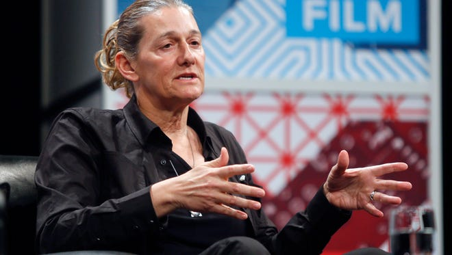 United Therapeutics CEO Martine Rothblatt gives a keynote on AI, Immortality and the Future of Selves during the SXSW Interactive Festival on Saturday, March 14, 2015 in Austin, Texas.  (AP Photo/Jack Plunkett)