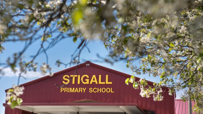 Stigall Primary School is seen Thursday, March 22, 2018, in Humboldt.