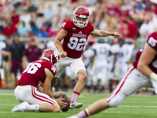 Hoosiers place-kicker Griffin Oakes (92) is the reigning Big Ten Kicker of the Year.