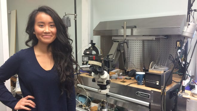 Alyssa Nguyen, displays her ring-making shop inside Alyssa and Anna Fine Jewelry, which plans to open Nov. 27.