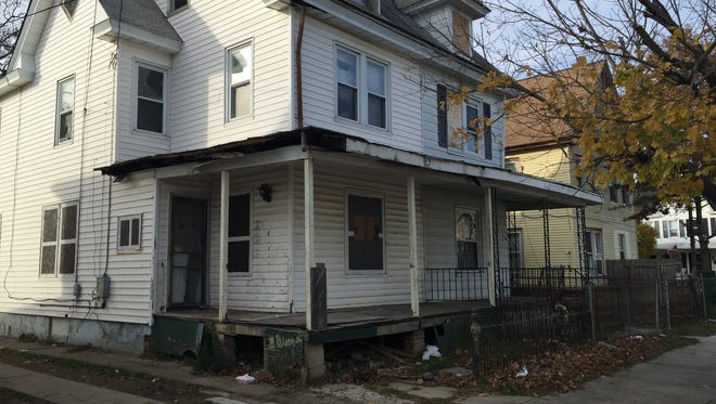 """A north-looking view of 712 Buck St. and 714 Buck St., a """"nuisance"""" duplex according to Millville."""
