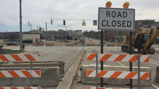 State Street closed last week at River Road for the start of a $24 million sewer project in West Lafayette.