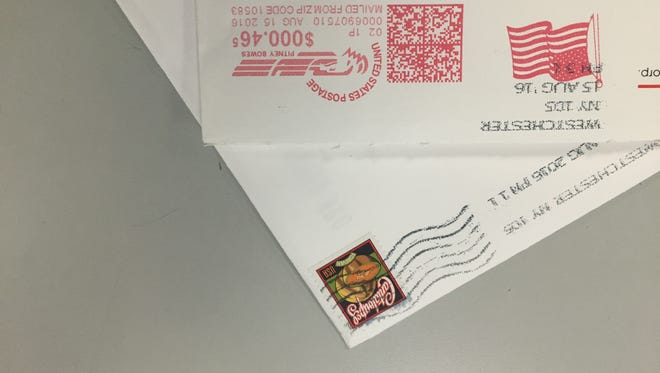 Mail with stamps