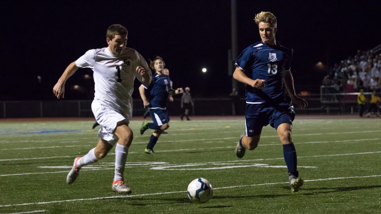 Avery Wenger, Brandon Stuhler and Jared Rohrbaugh all scored goals in Greencastle-Antrim's 3-0 victory over West York in the first round of District 3 Class 3A playoffs.