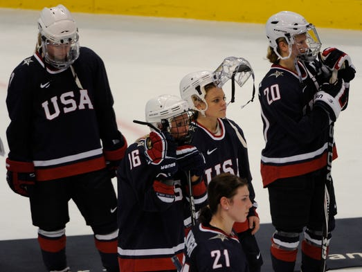 The U.S. women's hockey team could only watch as Canada celebrated its Olympic gold-medal victory at the Vancouver Games. The USA hopes to reverse its fortunes with the team announced for the Olympic Games in Sochi.