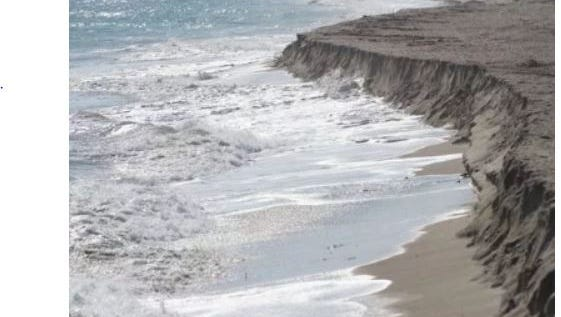 Bathtub Beach on South Hutchinson Island, seen  Nov. 17, 2016, is suffering from extreme sand erosion following Hurricane Matthew and high winds.