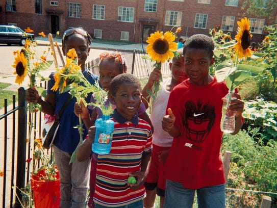 Gardening can encourage kids to try new foods. Children