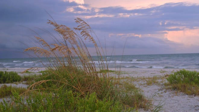 Special to The News-Press Norman Toback of Fort Myers took this picture at Golden Beach on Sanibel Island at dusk as an evening thunderstorm had just passed. The photo was taken on a Canon EOS Digital Rebel Camera.
