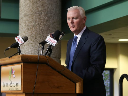 Jennie Stuart Medical Center CEO Eric Lee addresses