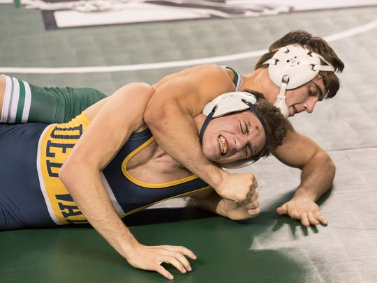 Delaware Valley's AJ DeRosa suffers a tough defeat