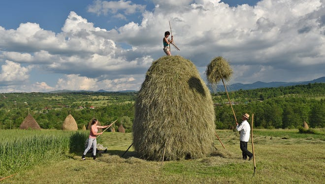 Much of the Romanian countryside is an old-fashioned world where most farm work is done by hand with simple, traditional tools.