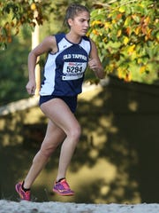 Mary Scrivanich of Old Tappan beat everyone in the girls varsity National race by at least 40 seconds, coming in with a time of 20:10, in Mahwah, Tuesday, October 10, 2017.