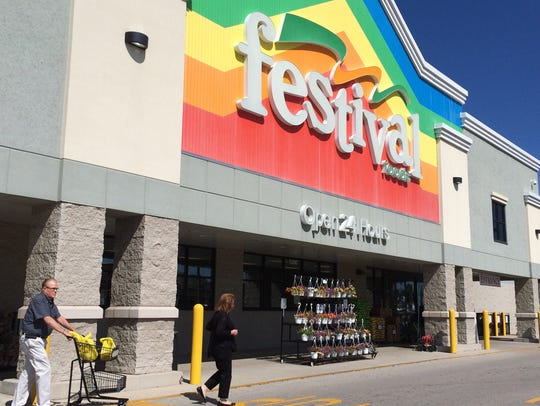 Festival Foods' familiar rainbow facade will arrive