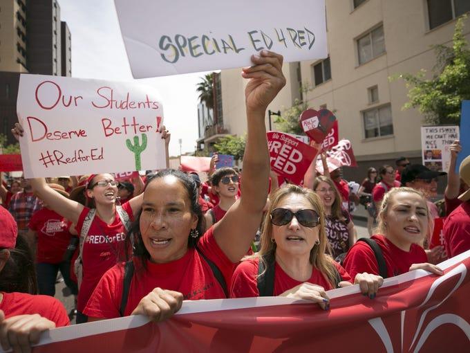 Aixa Reina (center left) and Tara Sanchez, (center