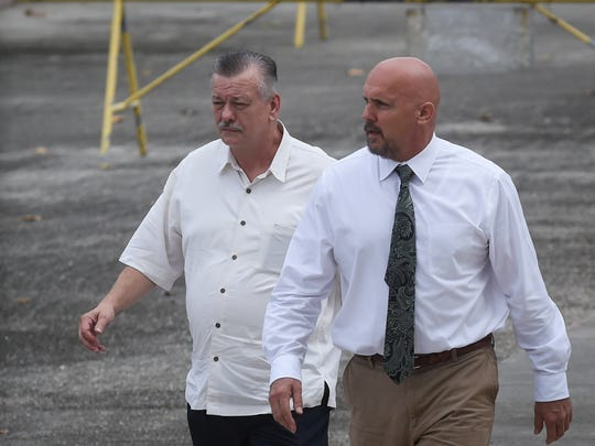 Clifford Shoemake, left, and Kimberly Conner, part owners of Guam Medical Transport, arrive for an arraignment hearing at the U.S. District Court of Guam in Anigua in this file photo.