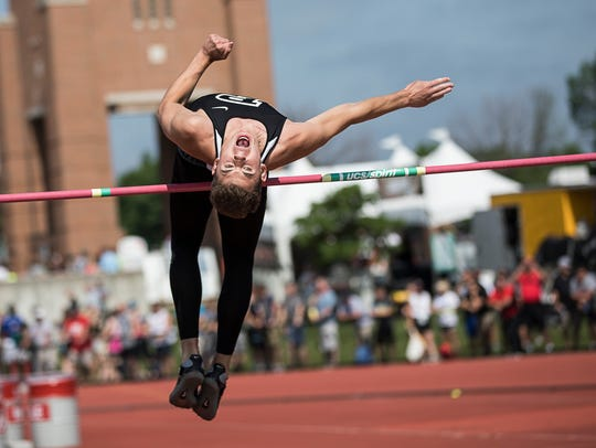 Pleasant's Jed Charpie competed in the Division II