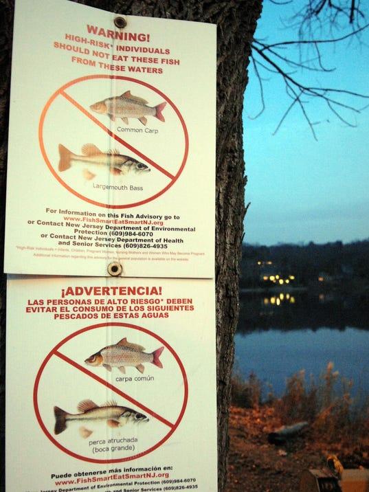 Fish warning sign