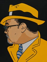 """""""Roger Tracy"""" by Roger Shimomura is featured in """"Roger Shimomura: An American Knockoff"""" on exhibit at Hallie Ford Museum of Art Jan. 17 through March 29. Shimomura's art was influenced by the pop culture and comic books of his youth."""