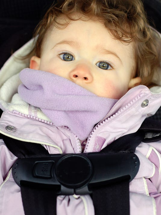 a9cca52edd88 Children wearing coats in car seats