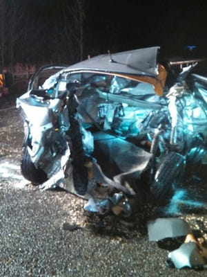 Two women died in a three-vehicle crash in Linn County Nov. 28, 2014.