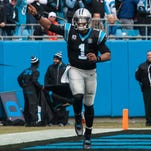 Panthers quarterback Cam Newton proved to be too much for the Cleveland Browns to handle Sunday.