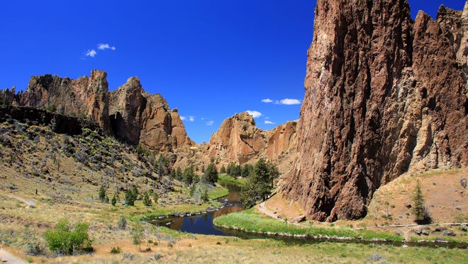 A view of Smith Rock State Park from the trails that wind through the Central Oregon destination north of Bend. June 29, 2014.