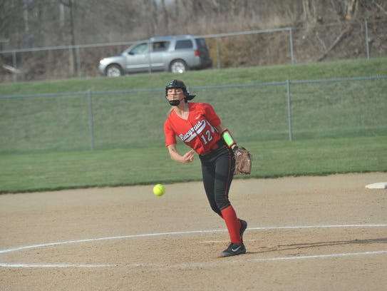 Alexis Dye has had a handful a great performances this season alternating with Caleigh Rister on the slab for the Lady Redmen.