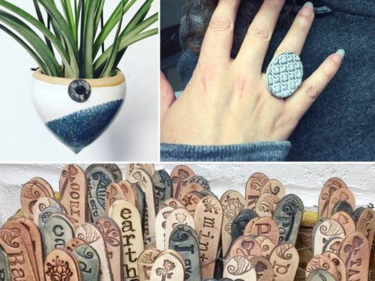 Artist Evelyn Taylor will offer her jewelry and other wares at Handmade Holidays at the Collingswood Farmers Market on Saturday.