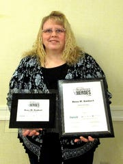 Rena Bankert, a caregiver at Visiting Angels Senior Homecare in Hanover, has won the 2016 Central Penn Parent's Senior Care Hero Award.  Bankert was nominated for the Senior Care Hero Award because of her tireless and passionate dedication to the seniors living in the community, her commitment to the priority needs of clients and her efforts that benefit older adults in York County.