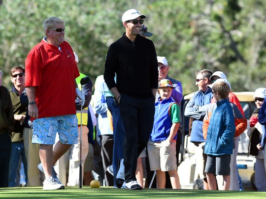 Professional golfer John Daly was in attendance at the Hale Groves Indian River Grapefruit Pro-Am along with country music star Jake Owen at the Vero Beach Country Club.