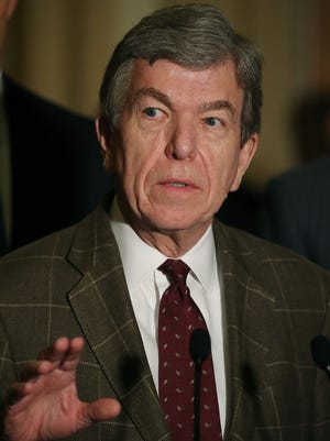 Sen. Roy Blunt (R-MO), speaks to reporters on Capitol Hill, June 28, 2016 in Washington, DC.