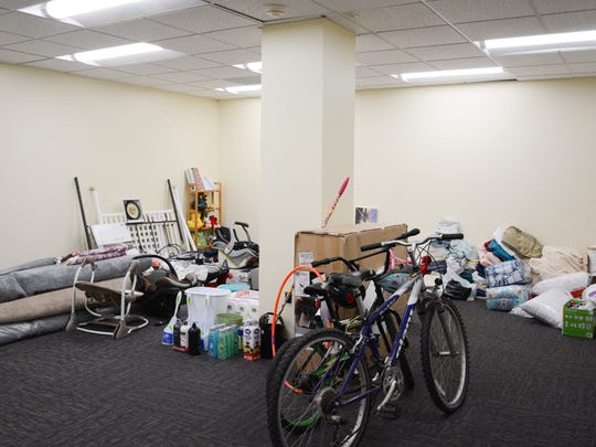 The International Rescue Committee's Tallahassee office is sustained through donations, most of which is stored in the building.
