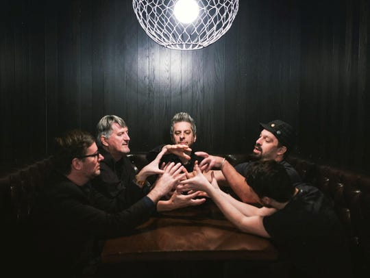 Mike Gordon's solo band - from left to right, Robert