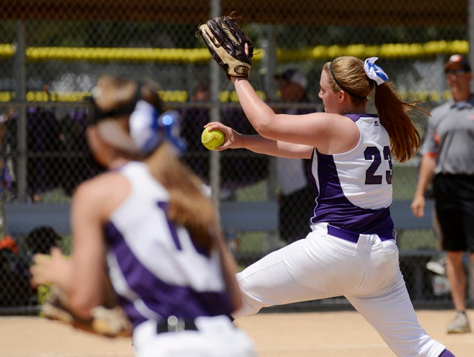 Sarah Dill pitches for the Lincoln Rockets 95 as they play South Dakota Fusion White in an 18u game Saturday at the Ringneck softball invitational at Sherman Park, July 5, 2014.