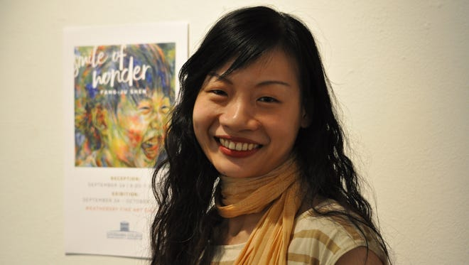 """Fang-Ju Shen of Taiwan will exhibit her painting collection """"Smile of Wonder"""" at Louisiana College this week through Oct. 2."""