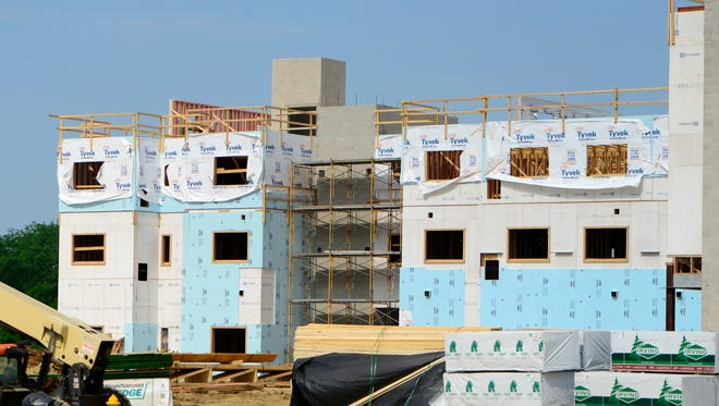 Construction continues in June at the Landings at Terra Village, a 225-unit student housing facility at Terra State Community College. The facility is scheduled to be completed and open to students in August.