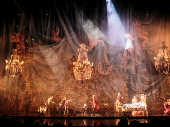 A scene from Corteo, a Cirque du Soleil production