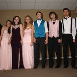 Gibsonburg's 2016 prom court included (l-r) Ashley Gerwin, Selena Alejandro, Allie Brown, Queen Katy Roberts, King Josh Dyer, Andrew Calmes, Preston Arriaga, Alec Valencic.