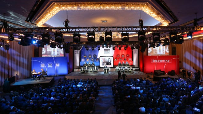 General view during the NBA draft lottery at New York Hilton Midtown. Now that the draft order is set, we can look ahead to team needs.