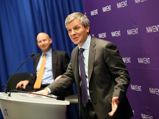 Wilmington-based Navient is the nation's largest servicer of student debt. In this February photo, Navient CEO Jack Remondi speaks at a ribbon cutting for the new headquarters on Justison Street.