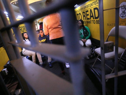 Prison or school? Students asked on Choice Bus