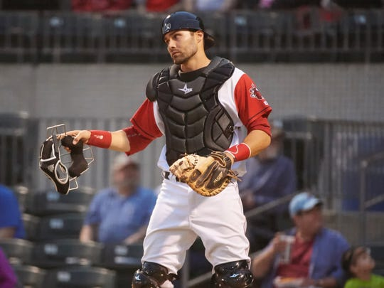 Anthony Bemboom is a former Sauk Rapids High School catcher who is in his fifth season in the Los Angeles Angels organization. He is playing for the Arkansas Travelers in Class AA.