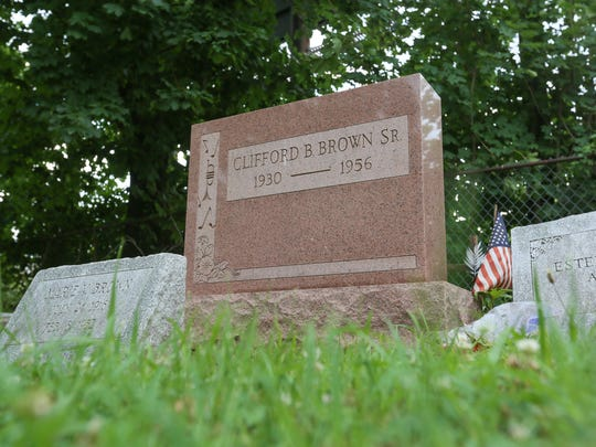 Clifford Brown's gravesite at Mount Zion Cemetery during the Clifford Brown Jazz Festival last week.
