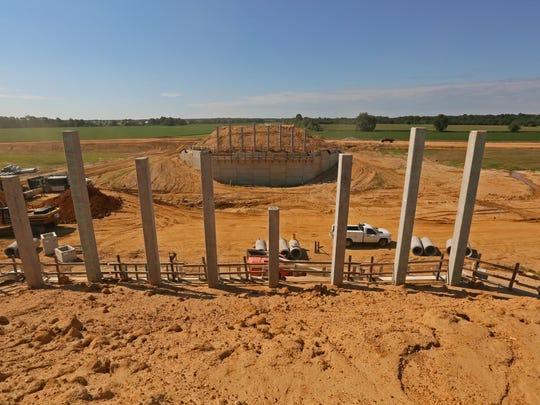 Construction of the U.S. 301 interchange near Jamison Corner Road.