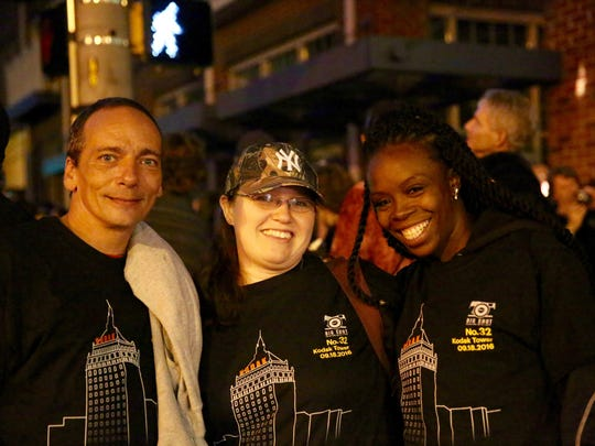 David Heisel (left), Kimberly Statt and Qutisha Britt,