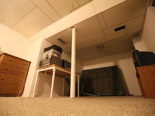 The basement where Emily Ruckle was attacked by a pit bull dog.